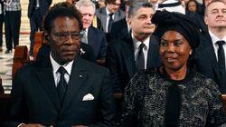 El dictador Obiang, único jefe de Estado en el funeral de Suárez