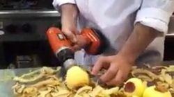La forma más rápida de pelar una manzana