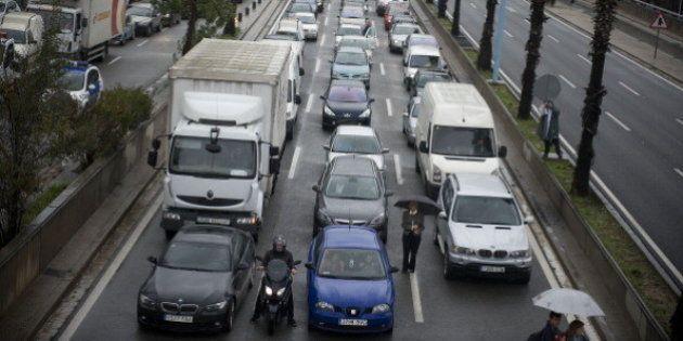 Caen un 63% los atascos en las principales ciudades