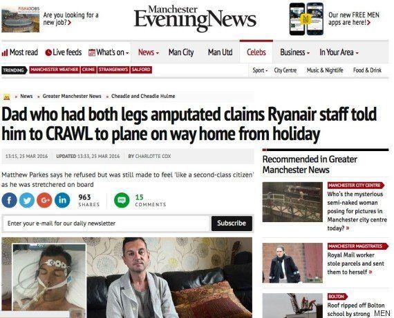 Ryanair quería obligar a un hombre en silla de ruedas a arrastrarse hasta el avión para