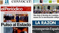 Todas las portadas sobre la consulta catalana
