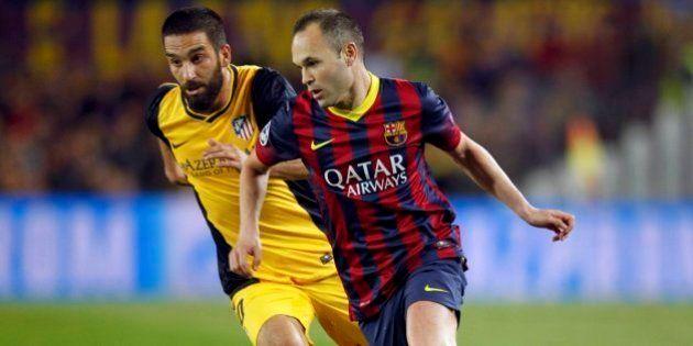 Barcelona - Atlético de Madrid (1-1): Iniesta y Courtois se citan en el