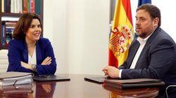 Sáenz de Santamaría y Junqueras se reunirán este jueves en