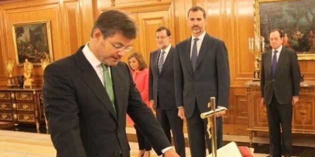 Rafael Catalá jura ante el rey su cargo de ministro de