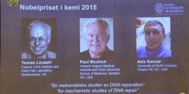 Tomas Lindahl, Paul Modrich y Aziz Sancar, Premio Nobel de Química 2015 por el estudio de la reparación...