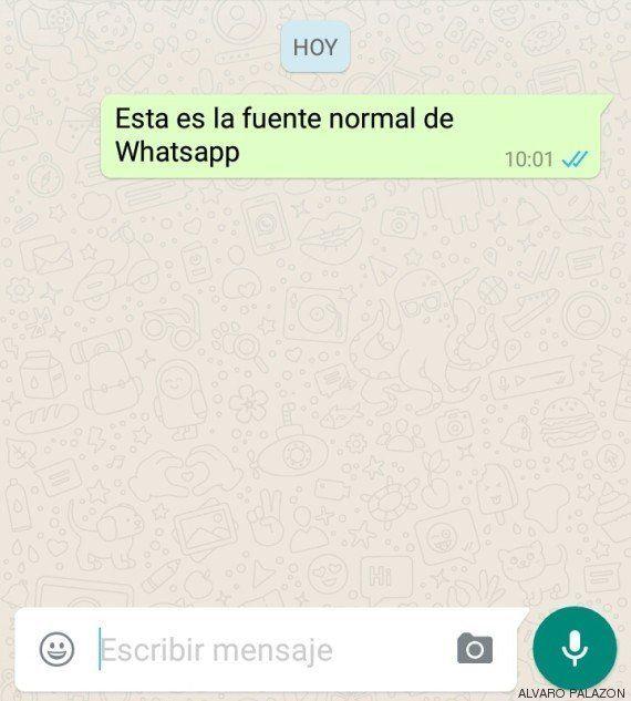 El nuevo tipo de letra de WhatsApp y cómo