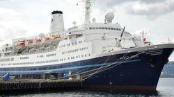 Rescatada una mujer de 65 años que quiso alcanzar a nado el crucero en el que