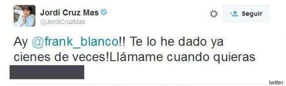 Jordi Cruz publica por error su número de teléfono en