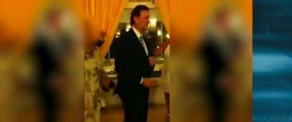Rajoy dándolo todo con 'Mamma Maria'