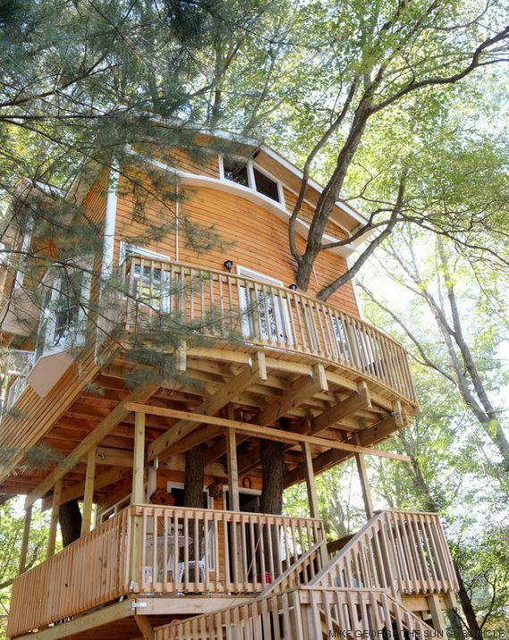 Esta casita de madera es increíble y se la hizo un abuelo a sus
