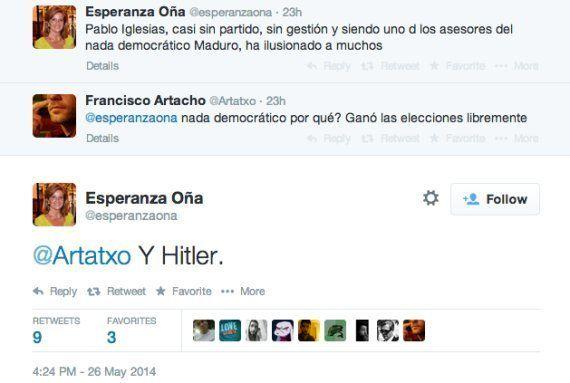 Esperanza Oña, alcaldesa de Fuengirola, compara a Pablo Iglesias con