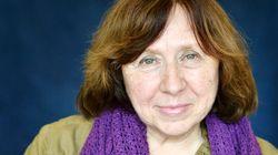 La escritora bielorrusa Svetlana Alexievich, Premio Nobel de Literatura