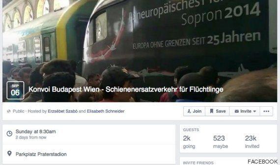 Organizan en Facebook un convoy ciudadano para llevar refugiados de Hungría a