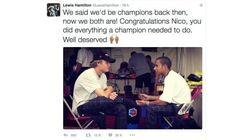 Hamilton felicita a Rosberg... pero muchos piensan mal por un