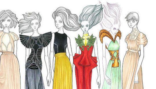 La cocina de la moda: cómo son los vestidos antes de salir a pasarela