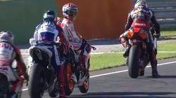 Jorge Lorenzo calienta la última carrera de MotoGP