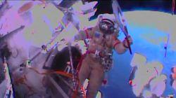 La antorcha olímpica da un paseo por el espacio