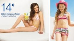 Facua exige a Carrefour la retirada de un bikini con relleno para