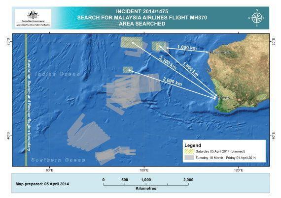 Un barco chino localiza una señal que podría proceder de la caja negra del avión malasio