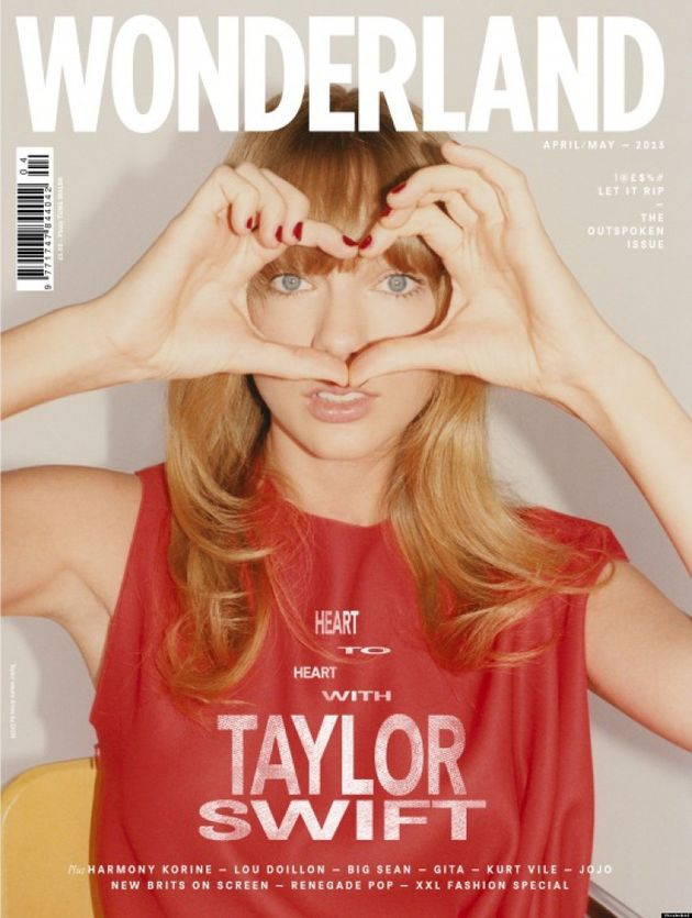 Taylor Swift, irreconocible en la portada de 'Wonderland'