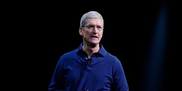 Tim Cook, chief executive officer of Apple Inc., speaks during the Apple World Wide Developers Conference...