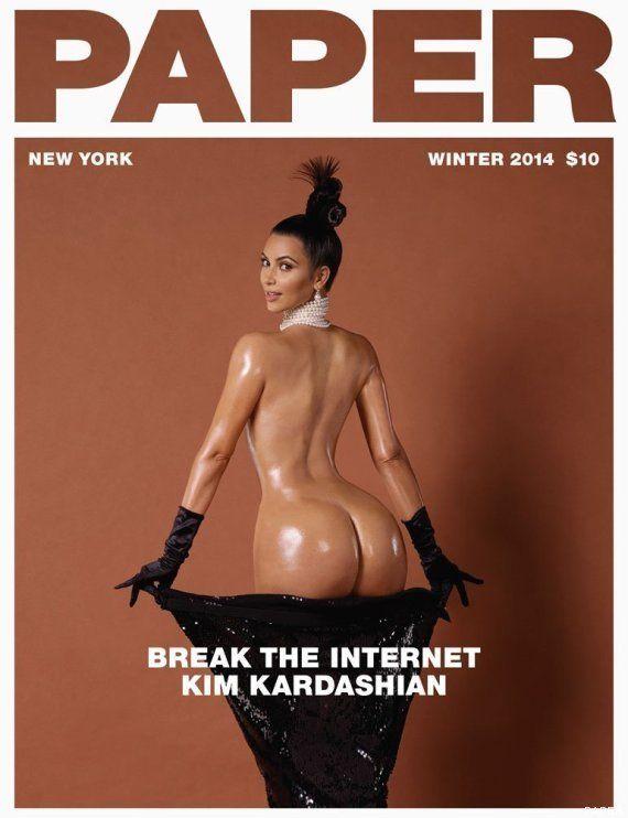 Kim Kardashian se desnuda para la portada de 'Paper' (FOTOS,