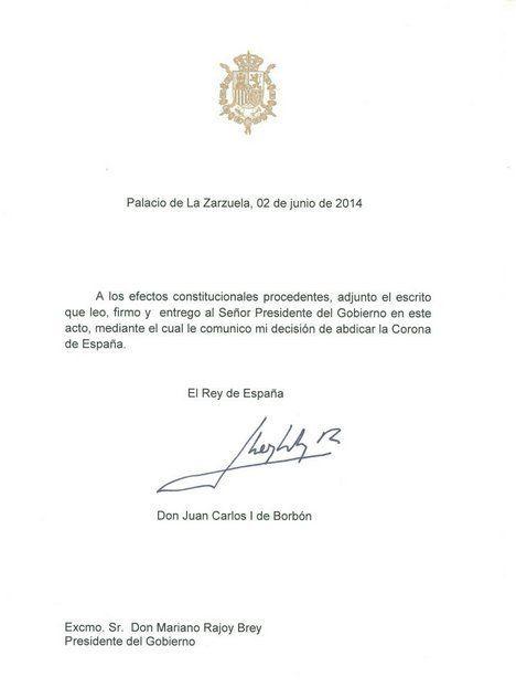 El rey abdica: así ha anunciado la Casa Real la abdicación en Twitter