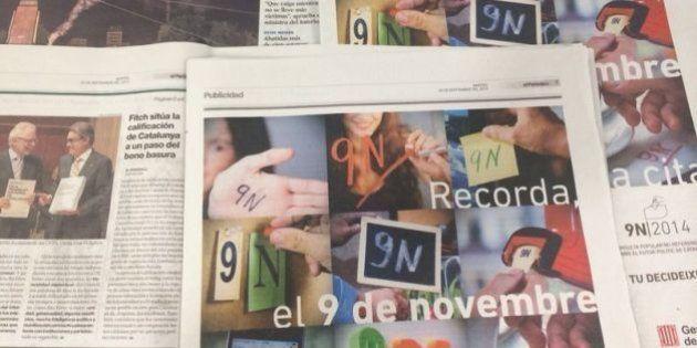 Anuncios en la prensa de la campaña del 9-N pese a la suspensión del