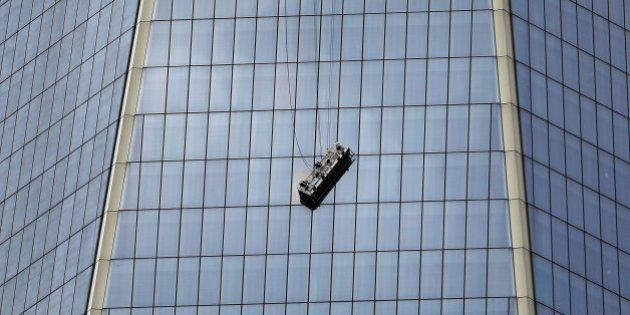 Susto en el World Trade Center de Nueva York para dos limpiacristales