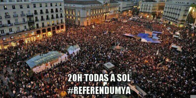 #ReferendumYa: Manifestaciones a las 20 en plazas de toda España para pedir la