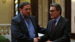 Junqueras rechaza los presupuestos de Mas y la lista unitaria con