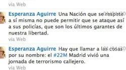 ¡Vaya! Aguirre pedía respetar a la Policía 48 horas antes de darse a la