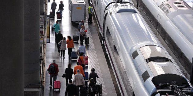 Normalidad en la circulación de los trenes AVE en Cataluña tras el supuesto