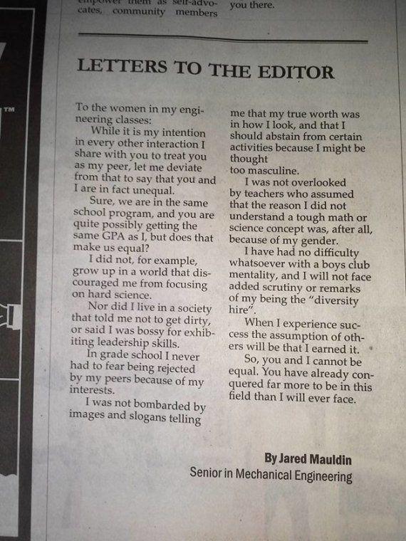 La carta viral que explica por qué los chicos y las chicas no son