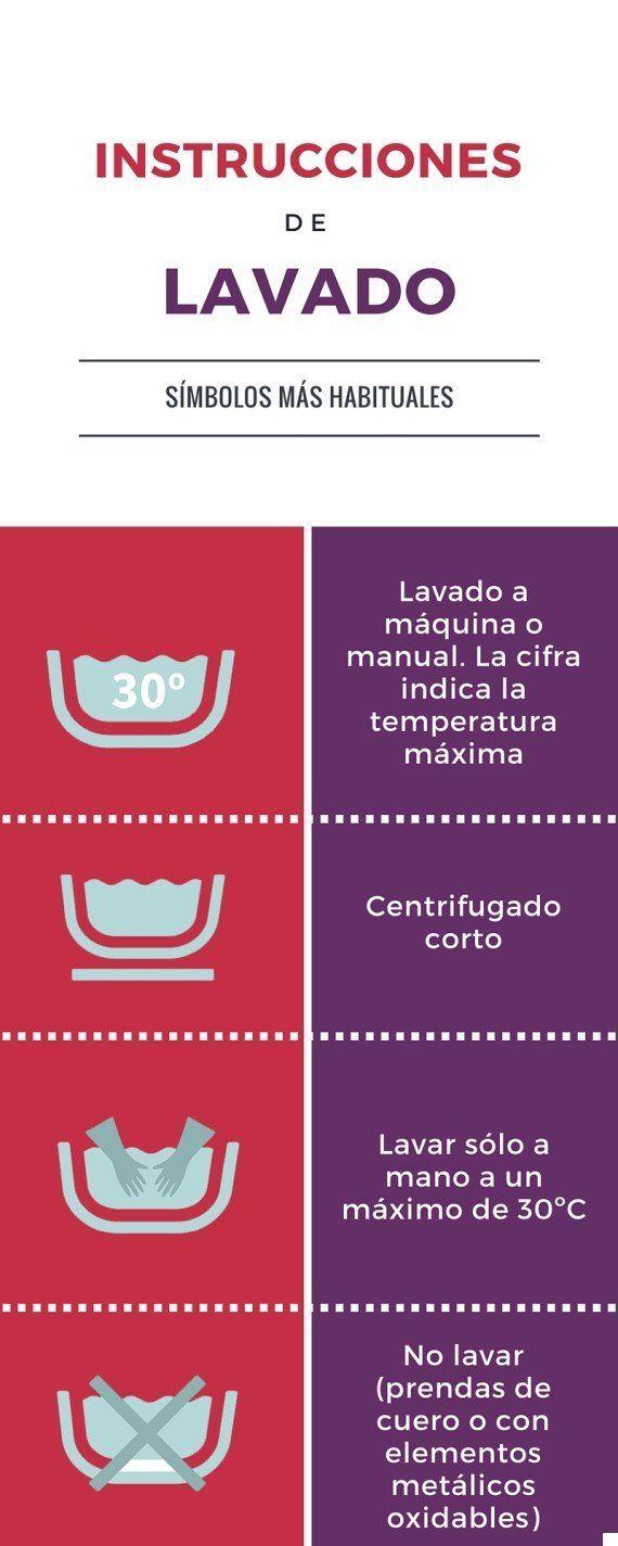 Guía Rápida Para Entender Los Símbolos De Lavado Secado Y Planchado De Las Etiquetas De La Ropa El Huffpost