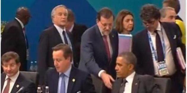Rajoy saludando a Obama: las bromas en Twitter por la