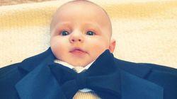 Lo que pasa cuando le pones un traje a tu bebé