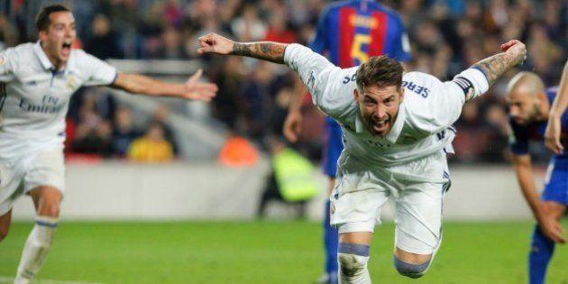 Barça-Madrid: Ramos rescata al Madrid en el descuento