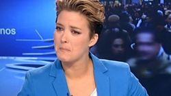María Casado rompe a llorar en directo