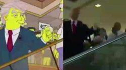 El fake de Los Simpson y Trump que circula por las