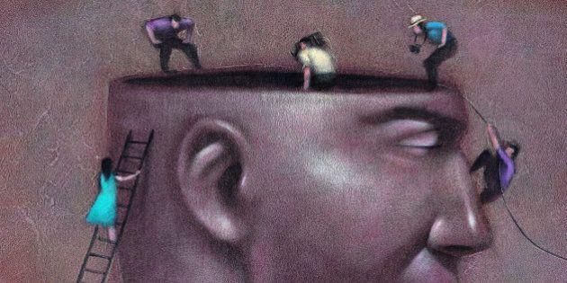 People Looking in Man's