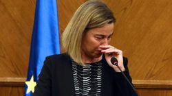 Las lágrimas de Mogherini por Bruselas (VÍDEO,