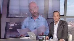 Las caras de Santi Acosta ante la falsísima alerta terrorista que estaba dando su