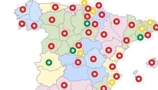 ¿Dónde están los mejores restaurantes de España? (MAPA