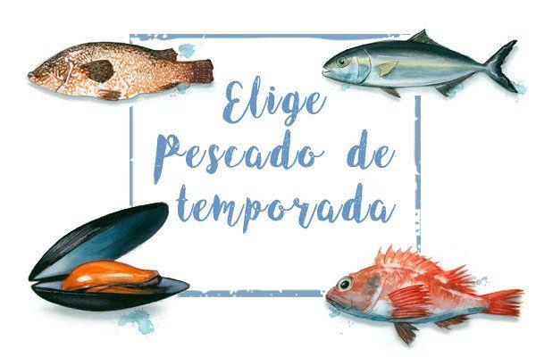 Pescado de temporada, mares con