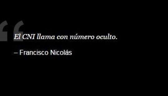 Las frases más locas de Francisco Nicolás en