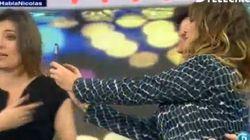 Así fue el momento 'selfie' de Mariló Montero y Francisco Nicolás