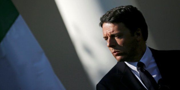 Italian Prime Minister Matteo Renzi attends a joint news conference with U.S. President Barack Obama...