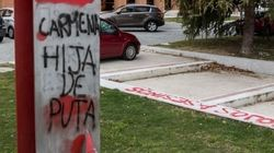Pintadas fascistas contra Carmena en la