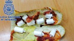 Detenido por ocultar cocaína en un bocata de jamón y queso